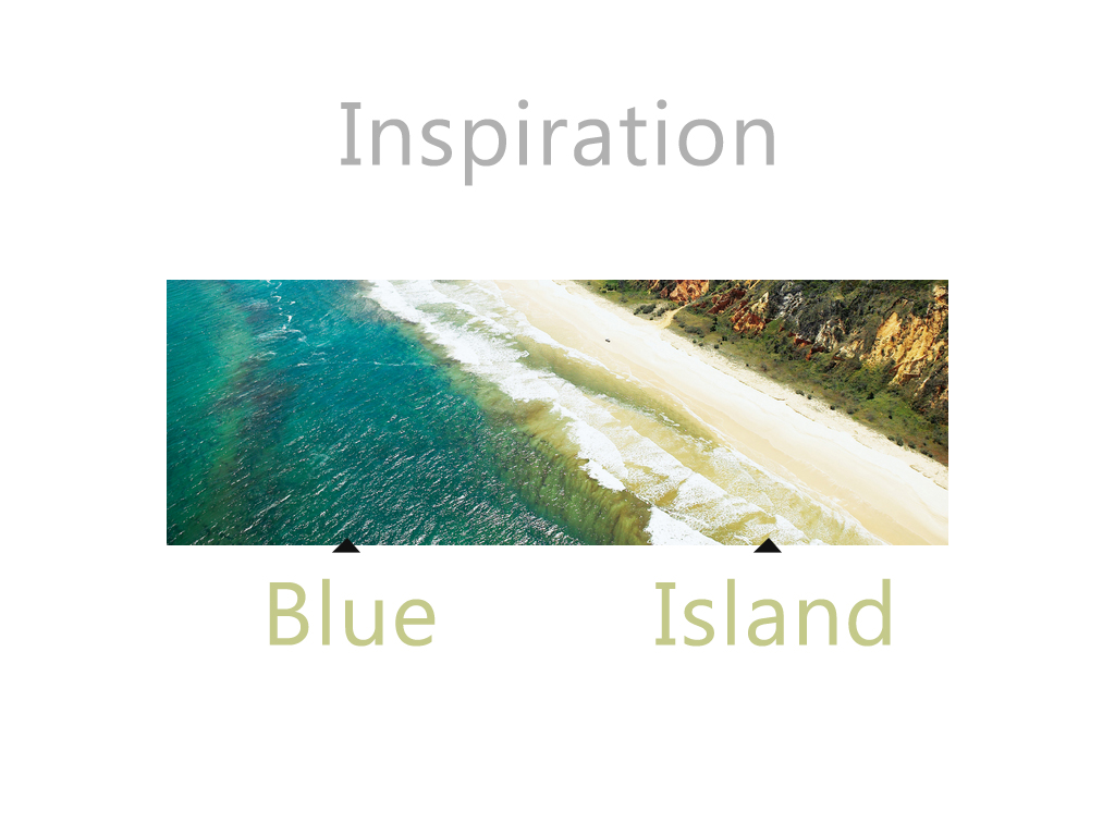 concept of blue island
